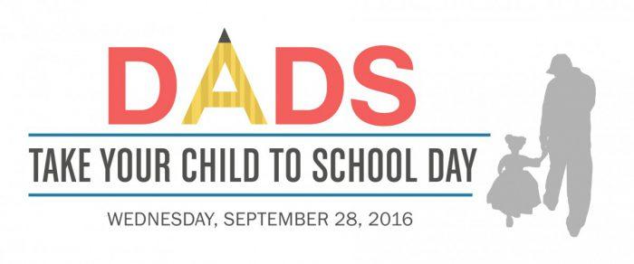 Dads Take Child School 2016 Linear Logo