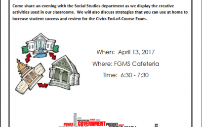 Civics Parent Night April 13