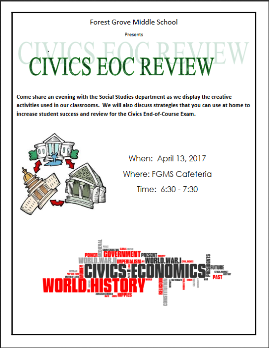 Civics Parent Night April 13