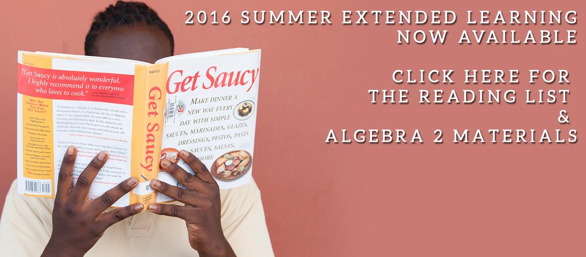 2016 Summer Reading/Algebra List Posted