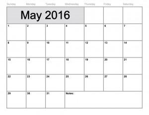 may2016 calendar