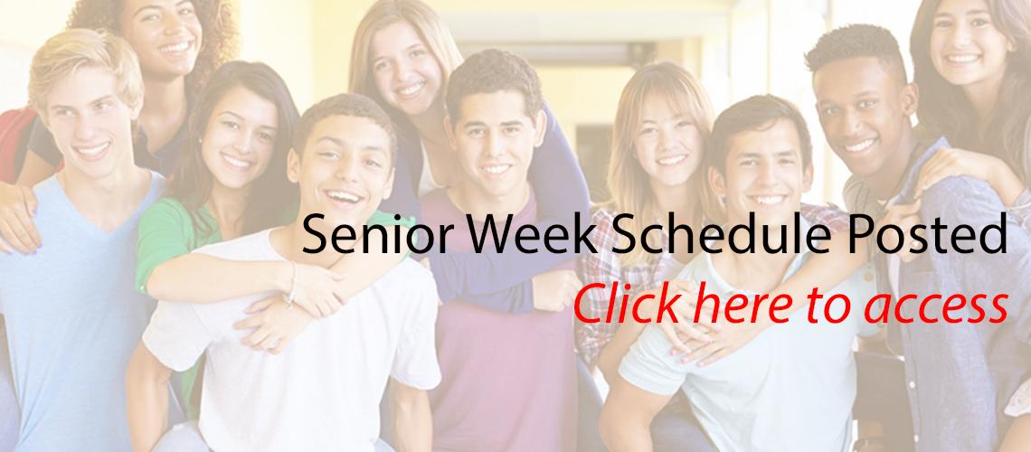 Senior Week Schedule Posted