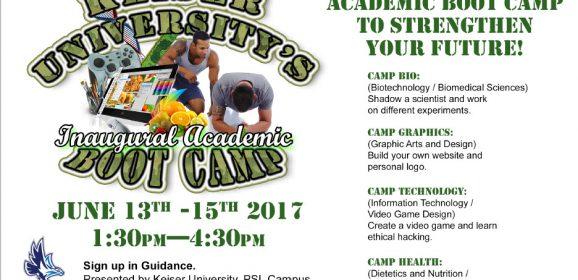 Keiser University's Inaugural Academic Boot Camp