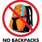 No Backpacks