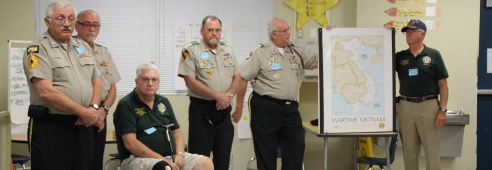 Veterans Visit Third Grade Classes