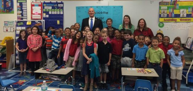 Mayor Oravec Visits Manatee Academy 1st Grade Students
