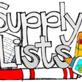 2016-2017 Supply Lists