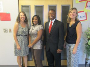 SGA administrative staff (l to r: Assistant Principal Kimberly Smith, TSA Charlene Edwards, Assistant Principal Alex Oge and Principal Traci Wilke)