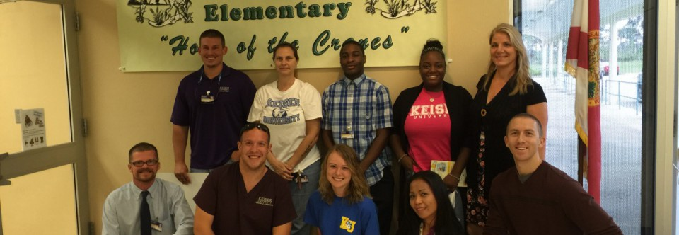 Keiser University Students come to mentor students at Savanna Ridge!