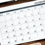 May Testing Calendar