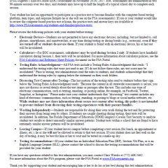 Winter 2017 FSA and EOC Parent/Guardian Notification Letter