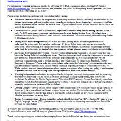 Spring FSA Announcement