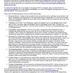 FSA Algebra EOC Parent Letter