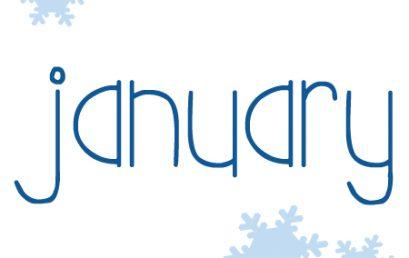 January Newsletter and Calendar