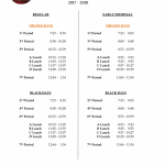 Bell Schedule Posted