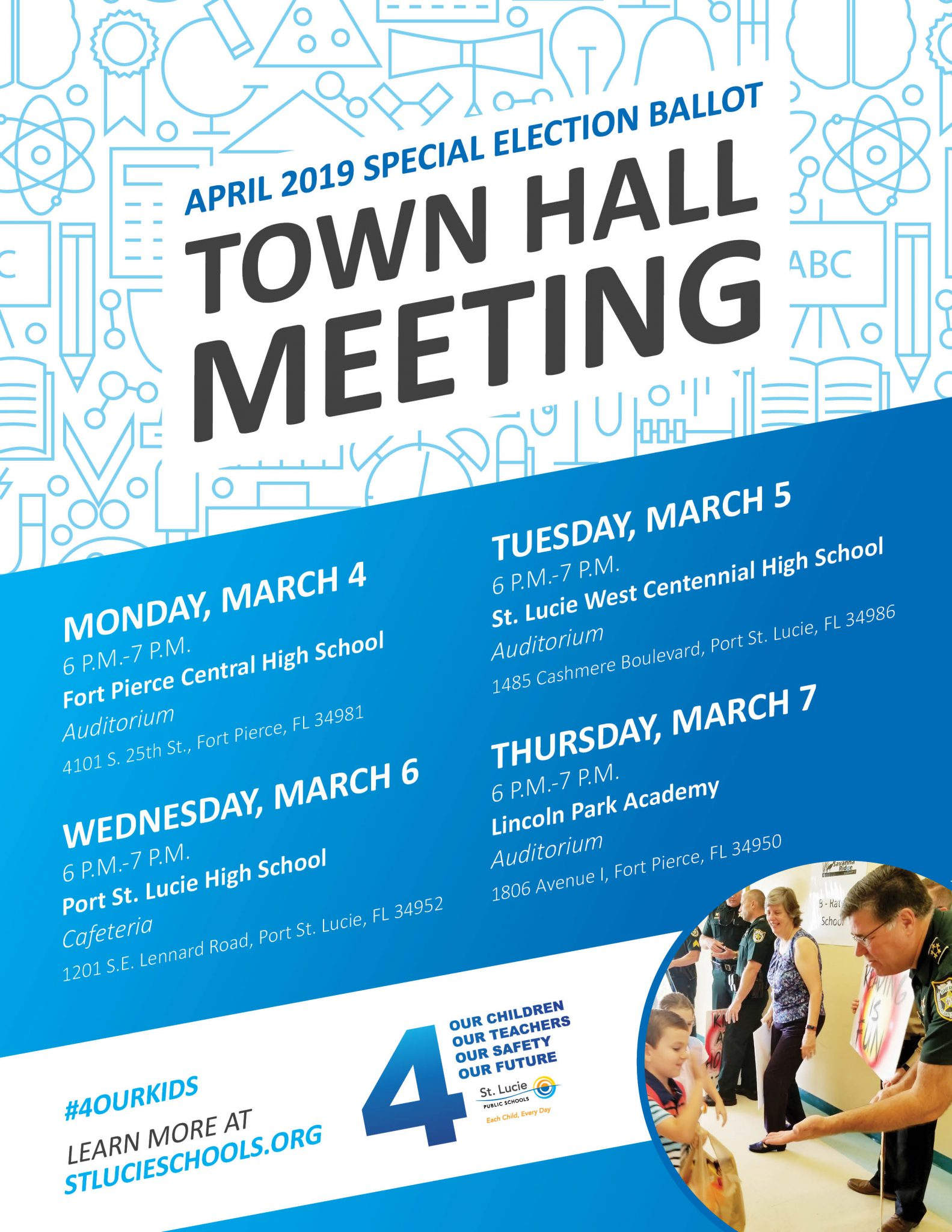 Town Hall Meetings on Special April Election
