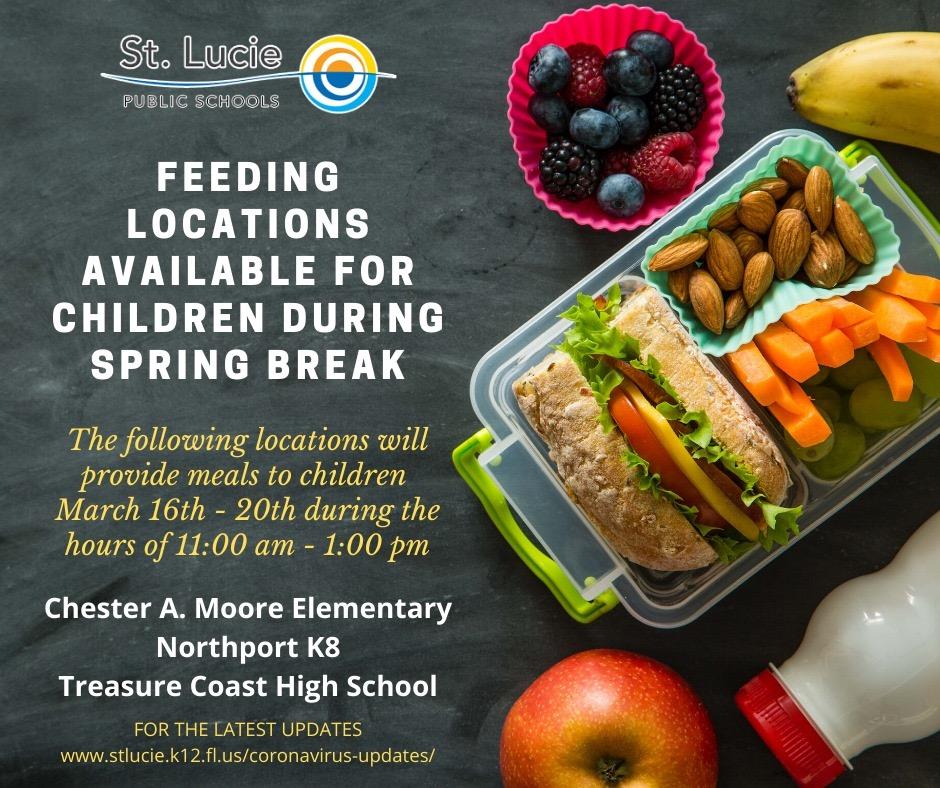 Spring Break Feeding Locations