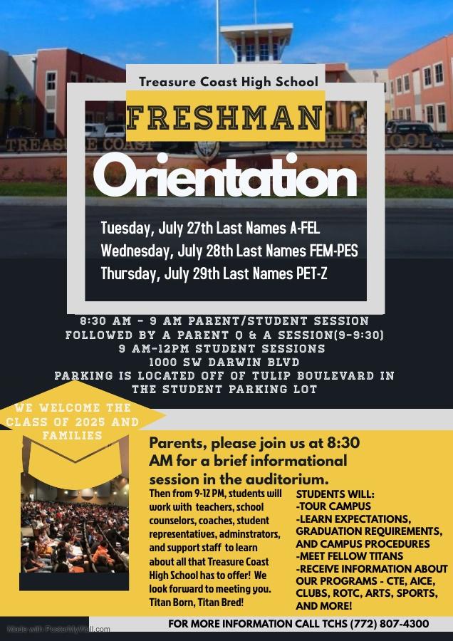 Freshman Orientation Fall 2021